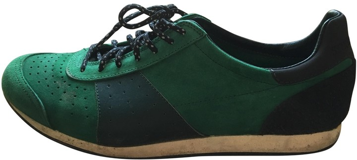 Stone Island Green Suede Trainers
