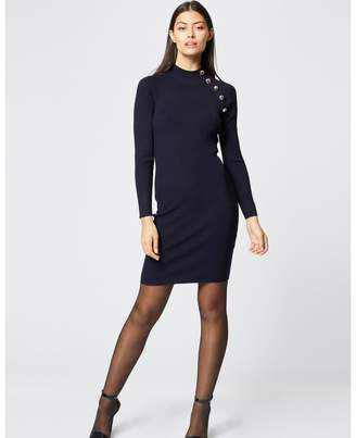 Morgan Short Bodycon Dress and Button Down Collar
