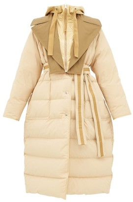 Moncler 2 1952 - Glomma Wrinkled Shell-down Coat - Womens - Beige