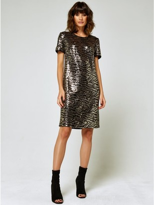 M&Co Zebra sequin shift dress