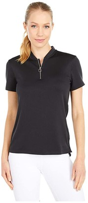 Nike Dri-FIT Fairway Short Sleeve Polo (Black/Gridiron/Black) Women's Clothing