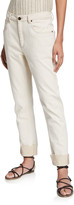 Brunello Cucinelli Garment-Dyed Straight Leg Pants