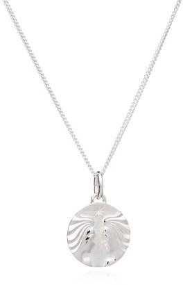 Rachel Jackson London Zodiac Art Coin Gemini Necklace Silver