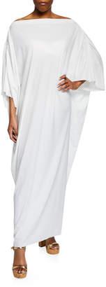 Chiara Boni Whoopi Off-Shoulder Long Coverup Caftan