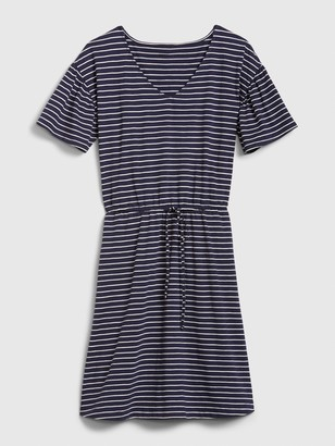 Gap Flutter Sleeve Tie-Front Dress in Modal-Cotton