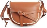 Loewe Small Gate Crochet Leather Crossbody Bag