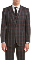 English Laundry Wool 3Pc Vested Suit With Flat Front Pant