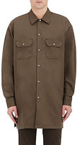 Acne Studios Men's Santos Cotton Twill Military Shirt-DARK GREEN