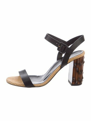 Gucci Leather Slingback Sandals Black
