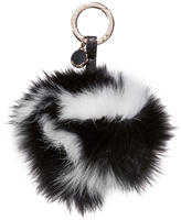 Jocelyn Super Swirl Fur & Leather Bag Charm