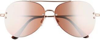 BP 60mm Oversize Mirrored Aviator Sunglasses