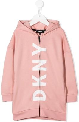 DKNY oversized logo print hoodie