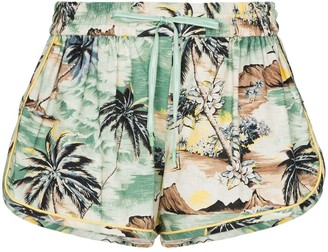 Zimmermann Juliette island print shorts