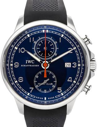 IWC Blue Stainless Steel Portuguese Yacht Club Laureus Sport Limited Edition IW3902-13 Men's Wristwatch 45 MM