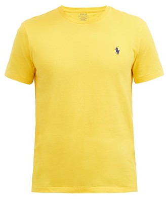 Polo Ralph Lauren Logo-embroidered Cotton-jersey T-shirt - Yellow