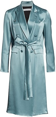 UNTTLD Double-Breasted Satin Trench Dress
