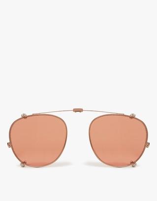 Garrett Leight Hampton Clip M 44 Sunglasses in Bronze/Copper Mirror