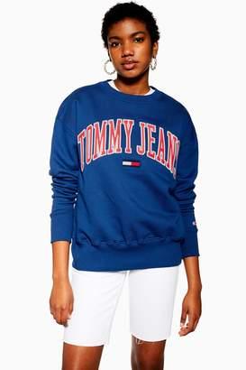 Tommy Hilfiger Womens Collegiate Crew Sweatshirt By Tommy Jeans - Cobalt