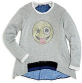 Flowers by Zoe Girls' Winking French Terry Sweatshirt - Sizes S-XL