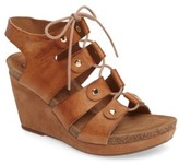 Sofft Women's Carita Lace-Up Wedge Sandal