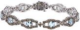 LeVian Le Vian Chocolatier 14K 7.65 Ct. Tw. Diamond & Aquamarine Bracelet