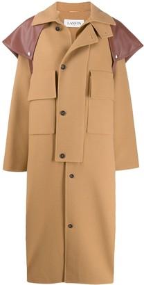 Lanvin Oversized Button Up Coat