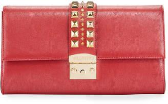 Mario Valentino Valentino By Cocotte Palmelatto Leather Envelope Clutch Bag