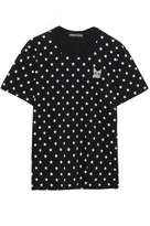 Markus Lupfer Anna Appliqued Printed Cotton-jersey T-shirt