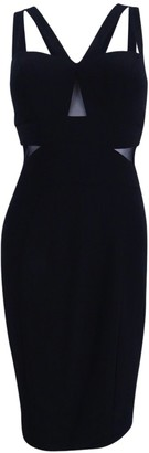 Xscape Evenings Women's Short Ity Dress with Asym Top and Illusion Insets