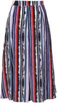 Prabal Gurung panel pleated skirt