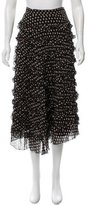 Anna Sui Ruffled Silk Skirt