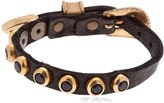 Campomaggi Studded Leather Belt Bracelet