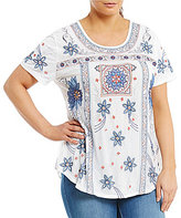 Peter Nygard Plus Embroidered Blouse