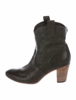 Alberto Fermani Leather Western Boots Green