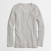 J.Crew Factory Striped ribbed long-sleeve T-shirt