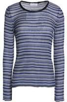 Sonia Rykiel Striped Ribbed Stretch-Knit Sweater