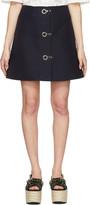 Marni Navy Button Down Miniskirt