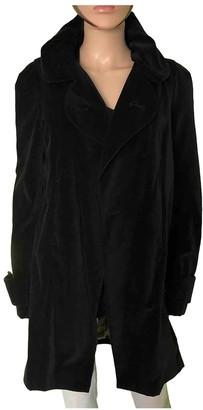 Ikks Black Cotton Coat for Women