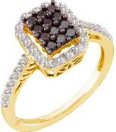 DazzlingRock Collection 0.50 Carat (ctw) 10k Yellow Gold Round & White Diamond Ladies Cocktail Right Hand Ring
