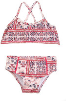 Jessica Simpson Ruffled Floral Print Bikini Set (Baby Girls)