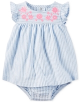 Carter's Cotton Striped Skirted Romper, Baby Girls (0-24 months)