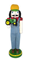 Asstd National Brand 14 Farmer with Tractor Nutcracker