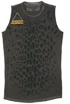 Freecity Leopard Golden Safety Pin Sleeveless Tee