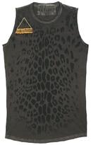 Freecity Leopard Golden Safety Pin Sleeveless Tee