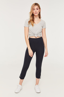 Ardene Basic Cropped Ruched Leg Leggings