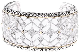 Candela Andrea Tesoro 18K & Silver 0.13 Cttw. Diamond Cuff