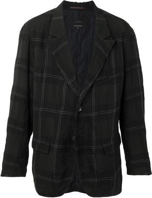 Ziggy Chen Check-Pattern Single-Breasted Blazer