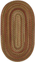 Capel Area Rug, Homecoming Oval Braid 0048-200 Evergreen 4' x 6'