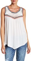 Democracy Sleeveless Front Crochet Blouse