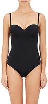 Wolford Women's Mat De Luxe Forming String Bodysuit-BLACK